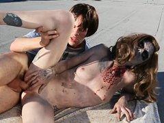 Порно секс с зомби